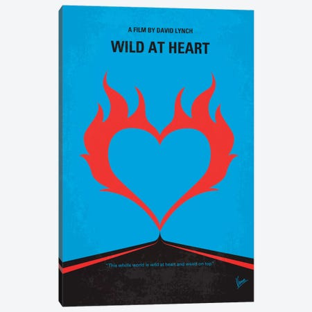 Wild At Heart Minimal Movie Poster Canvas Print #CKG345} by Chungkong Canvas Art Print