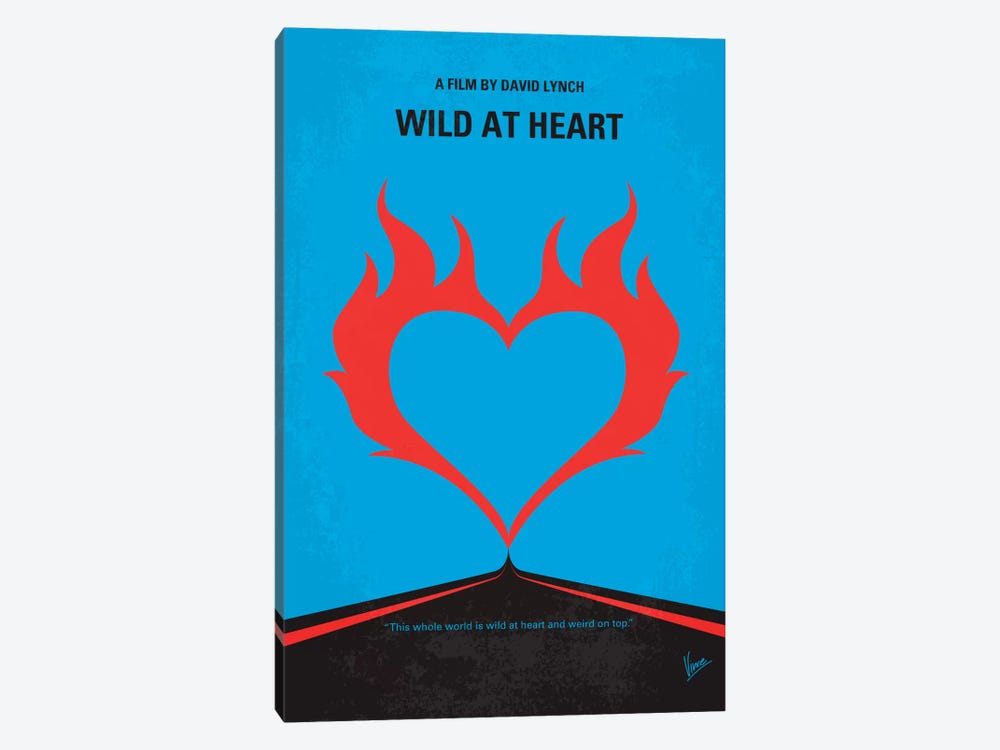 Wild At Heart Minimal Movie Poster by Chungkong 1-piece Canvas Art