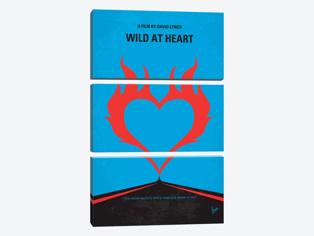 Wild At Heart Minimal Movie Poster by Chungkong 3-piece Canvas Wall Art