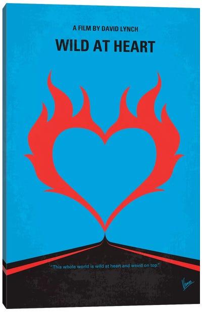 Wild At Heart Minimal Movie Poster Canvas Art Print