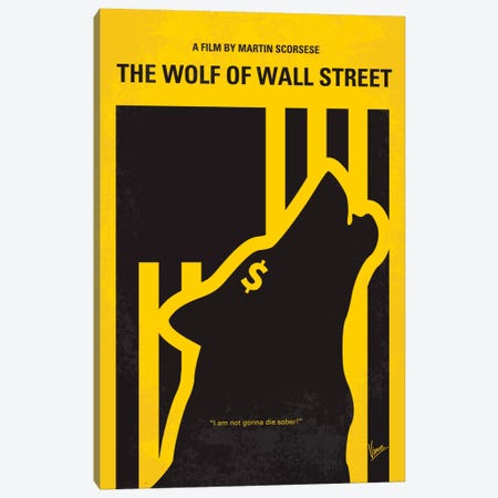 The Wolf Of Wall Street Minimal Movie Poster Canvas Print #CKG346} by Chungkong Canvas Art Print