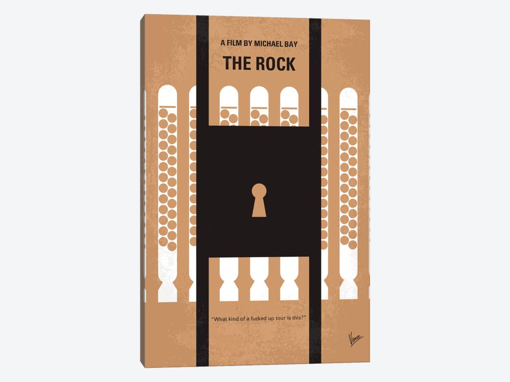 The Rock Minimal Movie Poster by Chungkong 1-piece Canvas Wall Art