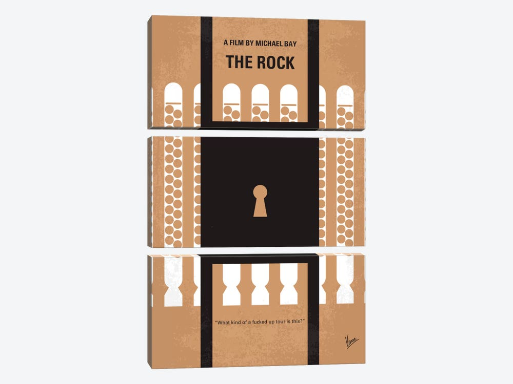 The Rock Minimal Movie Poster by Chungkong 3-piece Canvas Art