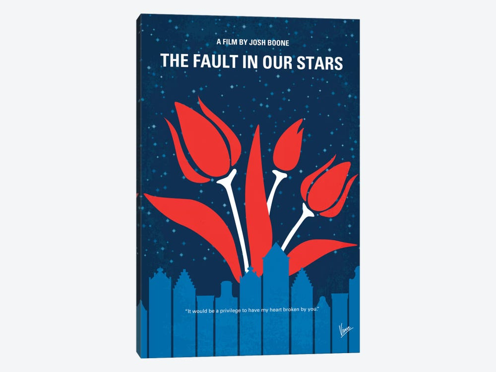 The Fault In Our Stars Minimal Movie Poster by Chungkong 1-piece Art Print