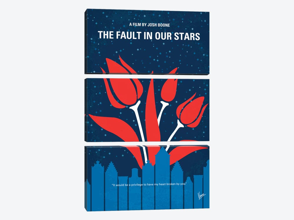 The Fault In Our Stars Minimal Movie Poster by Chungkong 3-piece Art Print