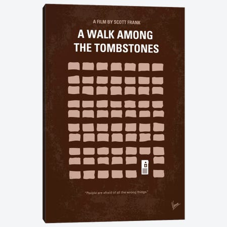 A Walk Among The Tombstones Minimal Movie Poster Canvas Print #CKG349} by Chungkong Canvas Artwork