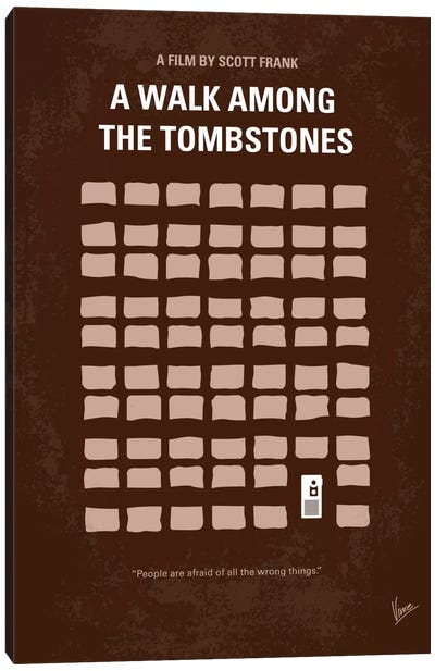 A Walk Among The Tombstones Minimal Movie Poster Canvas Art Print