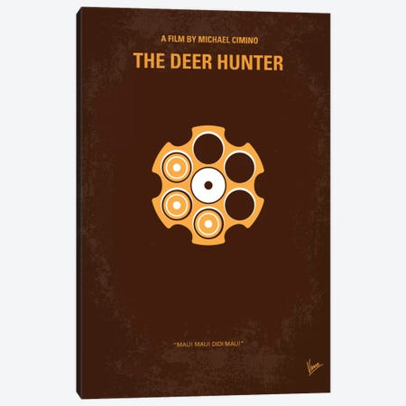 The Deer Hunter Minimal Movie Poster Canvas Print #CKG34} by Chungkong Art Print