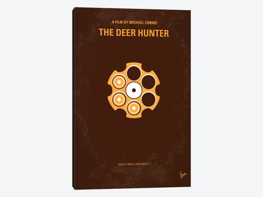 The Deer Hunter Minimal Movie Poster by Chungkong 1-piece Canvas Art