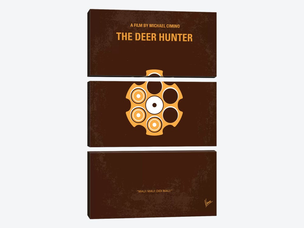 The Deer Hunter Minimal Movie Poster by Chungkong 3-piece Canvas Wall Art