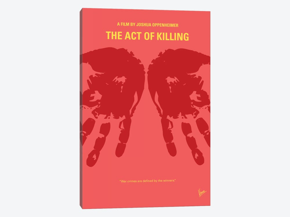 The Act Of Killing Minimal Movie Poster by Chungkong 1-piece Canvas Wall Art