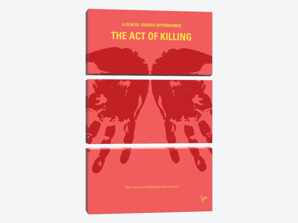 The Act Of Killing Minimal Movie Poster by Chungkong 3-piece Canvas Art