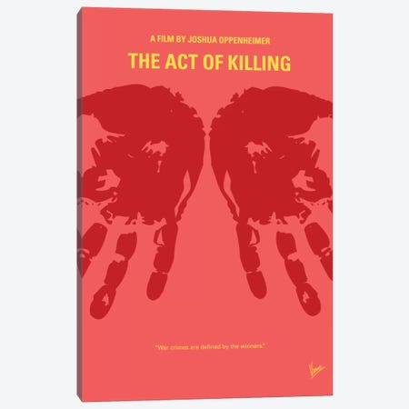 The Act Of Killing Minimal Movie Poster Canvas Print #CKG350} by Chungkong Canvas Print