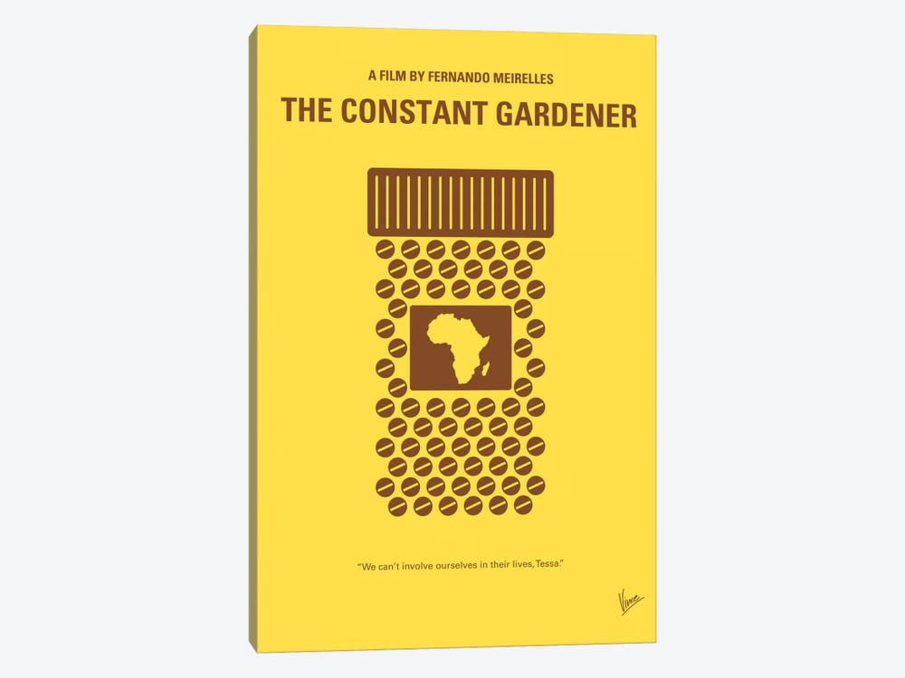 The Constant Gardener Minimal Movie Poster by Chungkong 1-piece Canvas Print