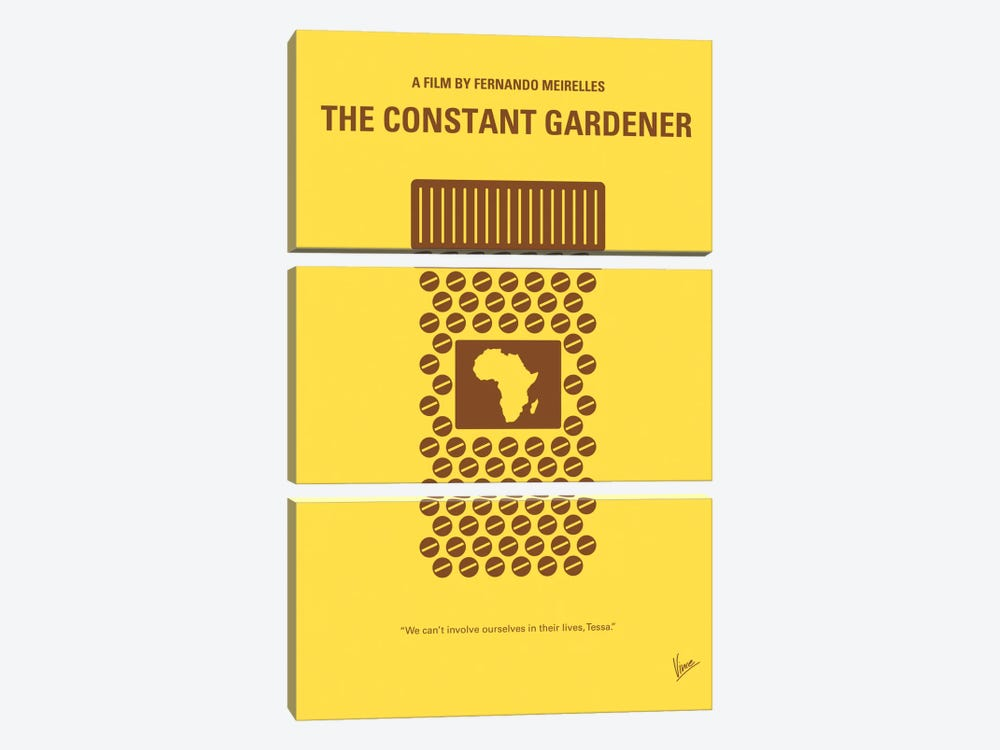 The Constant Gardener Minimal Movie Poster by Chungkong 3-piece Canvas Print
