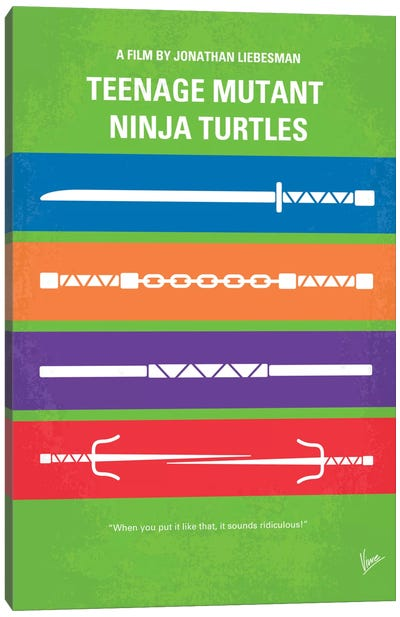 Teenage Mutant Ninja Turtles Minimal Movie Poster Canvas Art Print