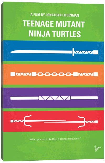 Teenage Mutant Ninja Turtles Minimal Movie Poster Canvas Print #CKG354