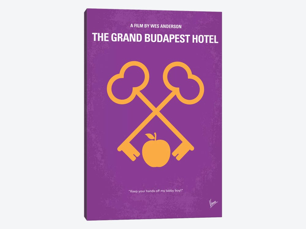 The Grand Budapest Hotel Minimal Movie Poster by Chungkong 1-piece Canvas Print