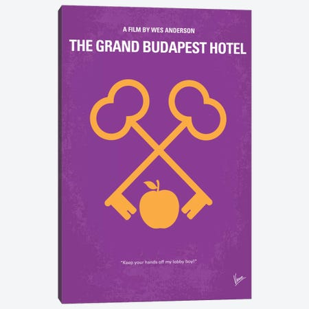 The Grand Budapest Hotel Minimal Movie Poster Canvas Print #CKG355} by Chungkong Canvas Art