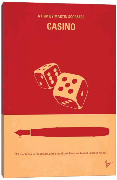 Casino Minimal Movie Poster Canvas Art Print
