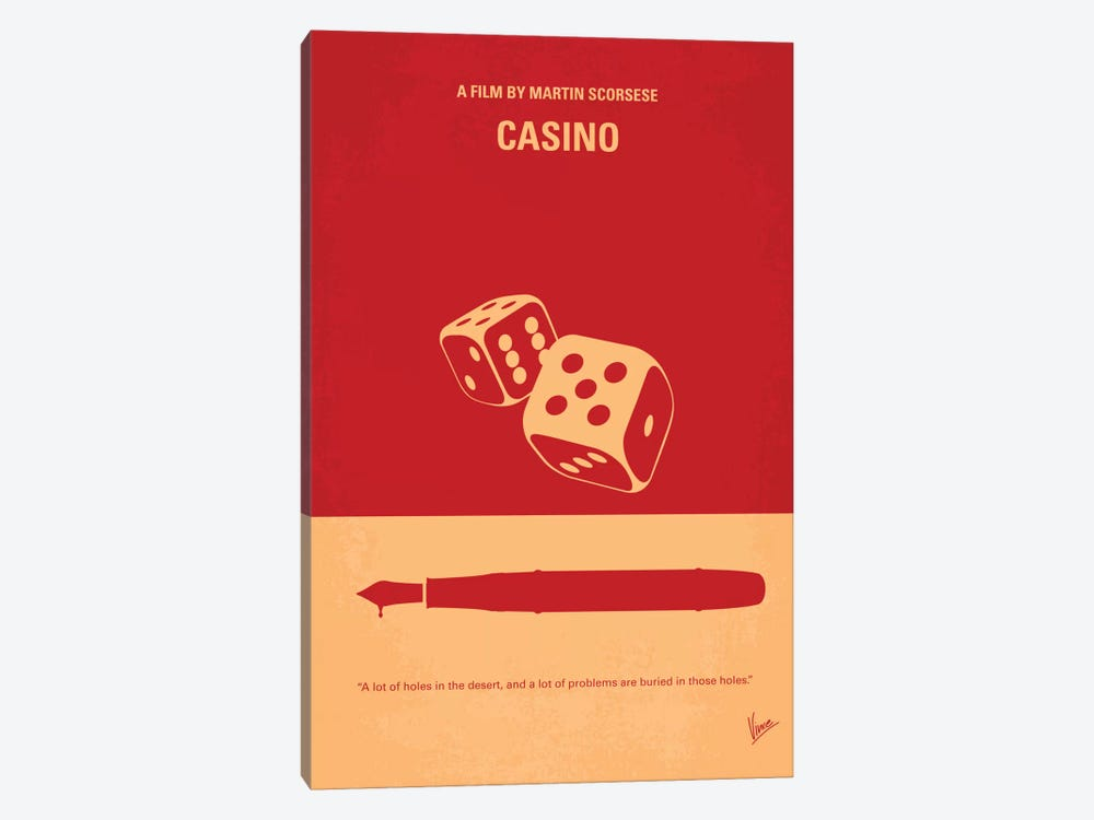 Casino Minimal Movie Poster by Chungkong 1-piece Canvas Art