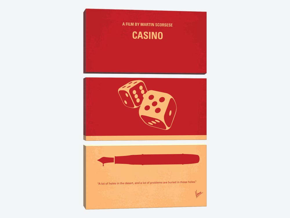 Casino Minimal Movie Poster by Chungkong 3-piece Canvas Artwork
