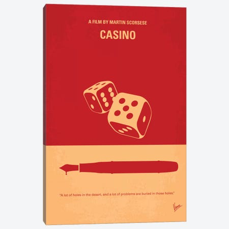 Casino Minimal Movie Poster 3-Piece Canvas #CKG356} by Chungkong Canvas Art