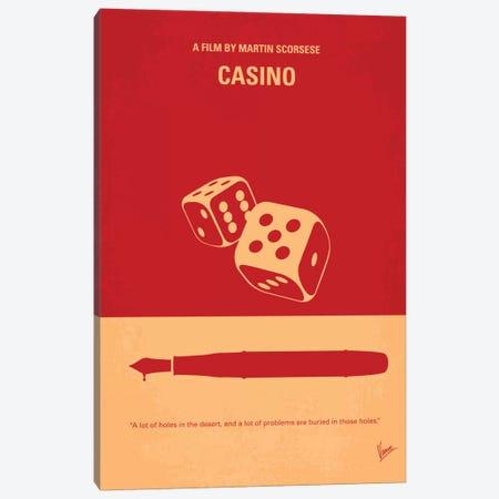 Casino Minimal Movie Poster Canvas Print #CKG356} by Chungkong Canvas Art