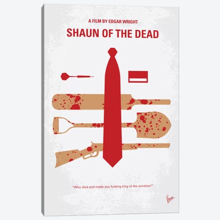 Shaun Of The Dead Minimal Movie Poster Canvas Print #CKG357} by Chungkong Canvas Artwork