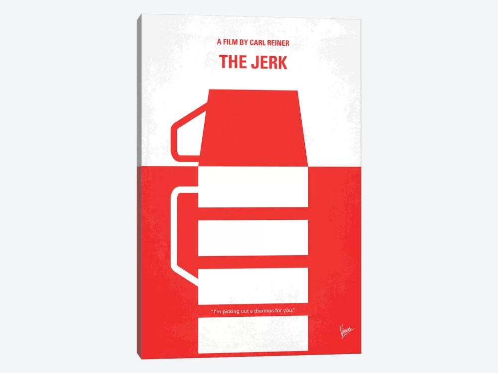 The Jerk Minimal Movie Poster by Chungkong 1-piece Canvas Artwork
