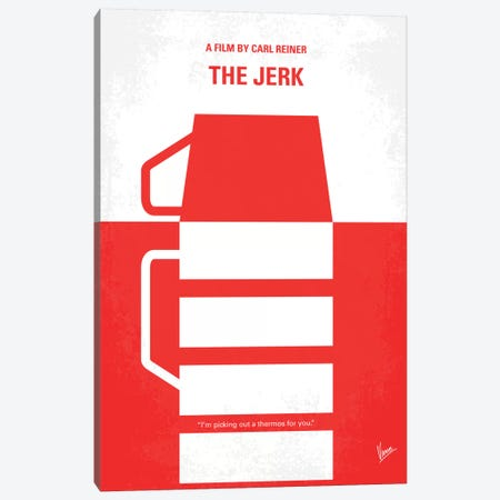 The Jerk Minimal Movie Poster 3-Piece Canvas #CKG358} by Chungkong Canvas Print