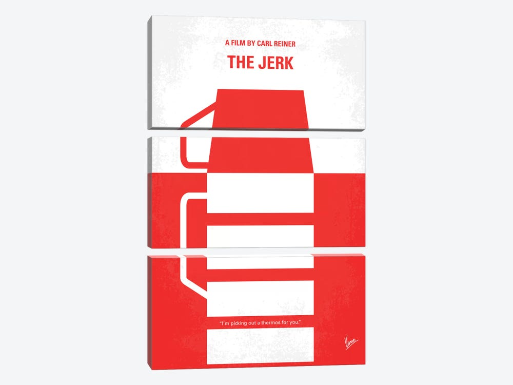 The Jerk Minimal Movie Poster by Chungkong 3-piece Canvas Art