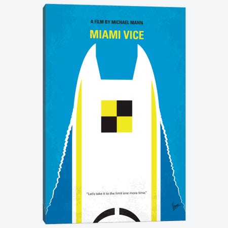 Miami Vice Minimal Movie Poster Canvas Print #CKG359} by Chungkong Art Print
