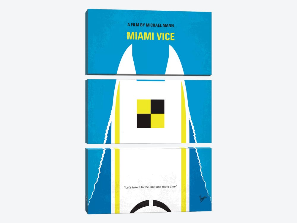 Miami Vice Minimal Movie Poster by Chungkong 3-piece Art Print