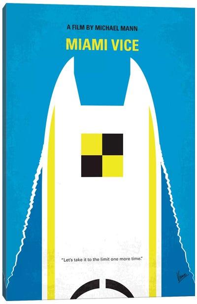 Miami Vice Minimal Movie Poster Canvas Art Print