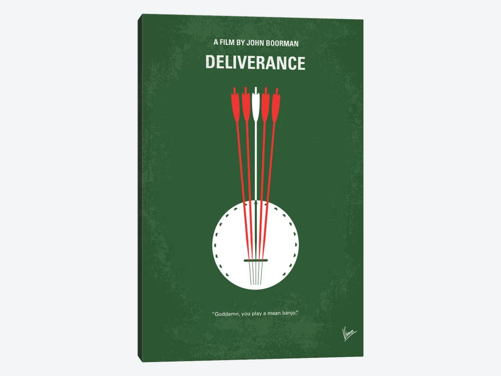 Deliverance Minimal Movie Poster by Chungkong 1-piece Canvas Print