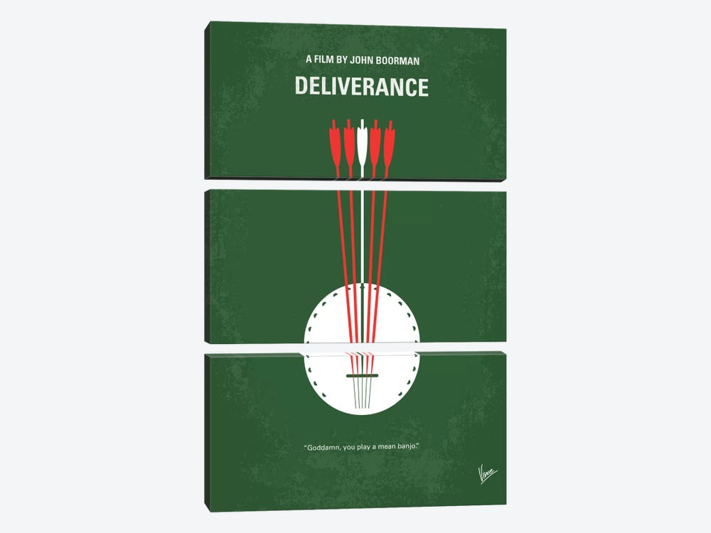 Deliverance Minimal Movie Poster by Chungkong 3-piece Art Print