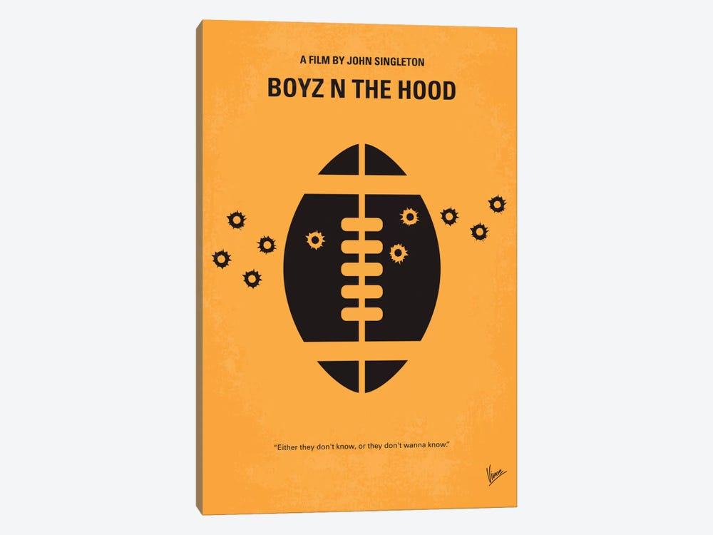 Boyz N' The Hood Minimal Movie Poster by Chungkong 1-piece Canvas Art Print