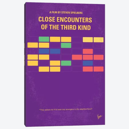 Encounters Of The Third Kind Minimal Movie Poster Canvas Print #CKG361} by Chungkong Canvas Artwork