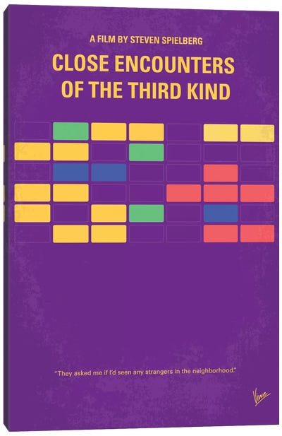 Encounters Of The Third Kind Minimal Movie Poster Canvas Art Print