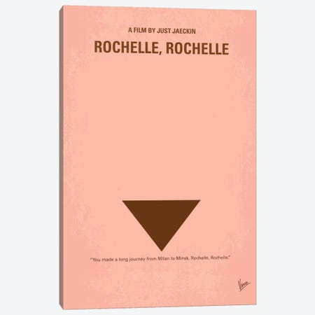 Rochelle Rochelle Minimal Movie Poster Canvas Print #CKG362} by Chungkong Canvas Wall Art