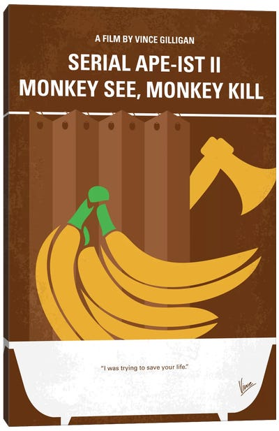 Serial Ape-ist Minimal Movie Poster Canvas Art Print