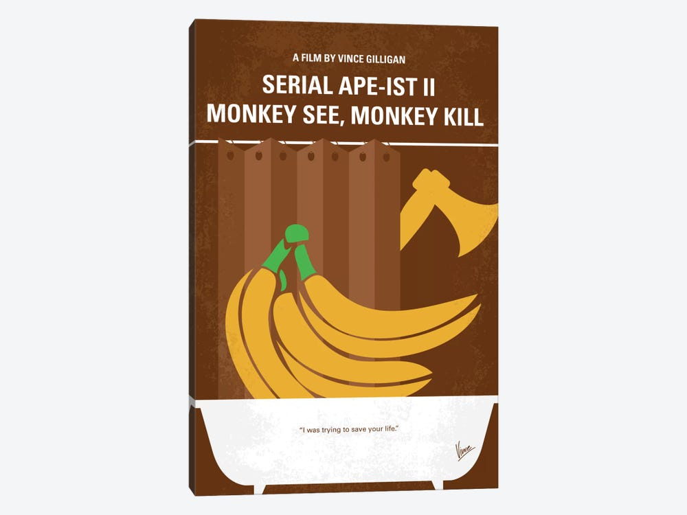 Serial Ape-ist Minimal Movie Poster by Chungkong 1-piece Canvas Art Print