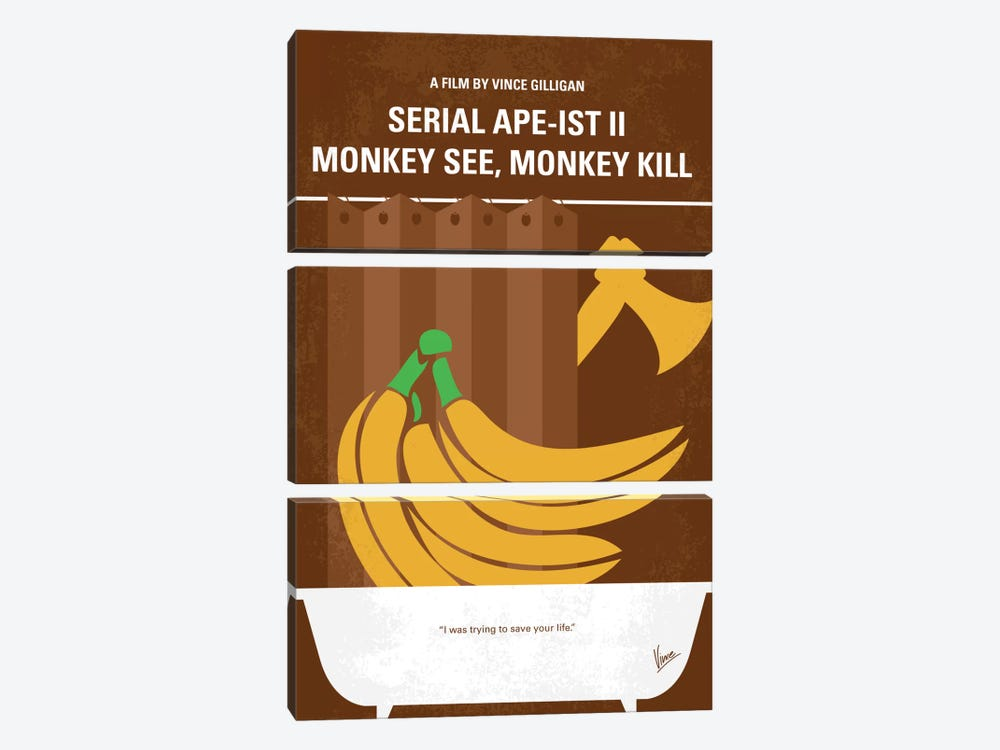 Serial Ape-ist Minimal Movie Poster by Chungkong 3-piece Canvas Art Print