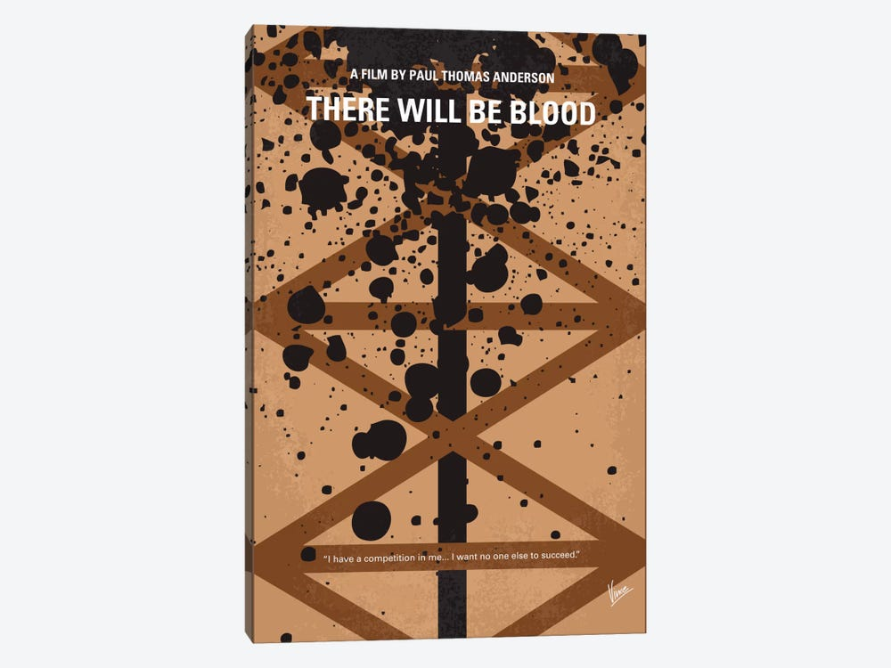There Will Be Blood Minimal Movie Poster by Chungkong 1-piece Art Print