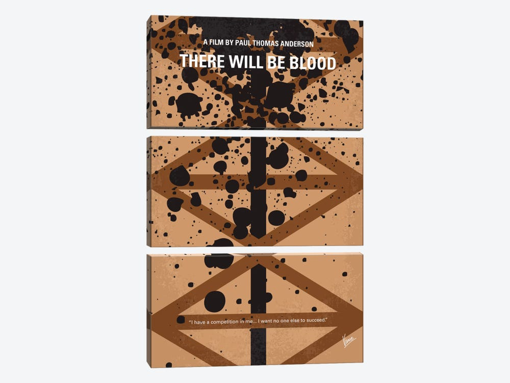 There Will Be Blood Minimal Movie Poster 3-piece Art Print