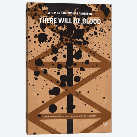 There Will Be Blood Minimal Movie Poster Canvas Print #CKG366} by Chungkong Canvas Art Print