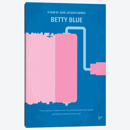 Betty Blue Minimal Movie Poster Canvas Print #CKG367} by Chungkong Canvas Print