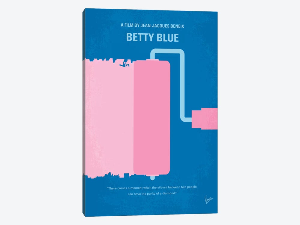 Betty Blue Minimal Movie Poster by Chungkong 1-piece Canvas Artwork