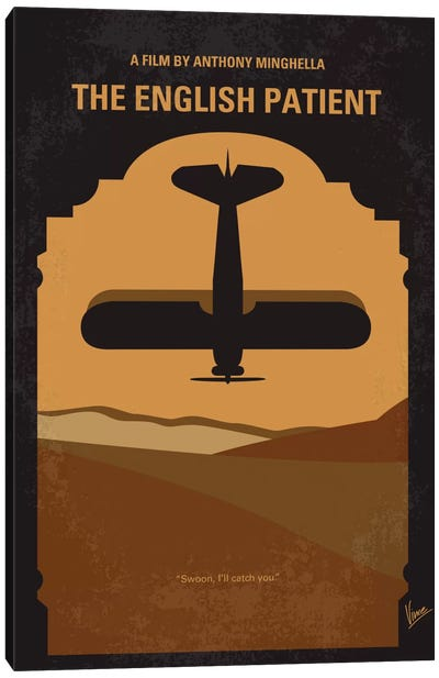 The English Patient Minimal Movie Poster Canvas Art Print